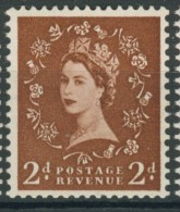 BL2-322 GREAT BRITAIN 1955-58 SG 543bWi WM21 St EDWARDS CROWN INVERTED, OMGEKEERD. MNH, POSTFRIS, NEUF**. - Ongebruikt