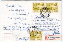 ROMANIA/ROUMANIE - CONSTANTA RESTAURANTUL CAZINO / REGISTERED POSTCARD 1971 - Romania