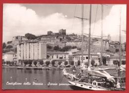 MAO-35 Castiglione Della Pescaia  Scorcio Panoramico, Barca. Circolato - Altre Città