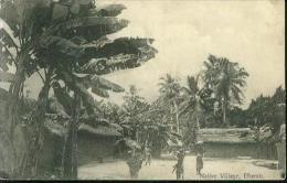 Very Rare Native Village Effurun Efurun Nigeria Banana Tree 5.12.1911 To Stendal Germany - Nigeria