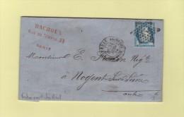 Paris - Etoile 7 - R Des Vlles Haudrtes - 21 Juil 1875 - Marcophilie (Lettres)