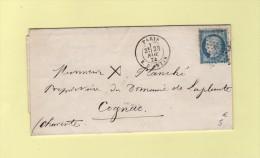 Paris - Etoile 8 - R. D´Antin - 23 Nov 1874 - Marcophilie (Lettres)
