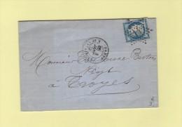 Paris - Etoile 14 - R. De Strasbourg - 8 Janv 1875 - Marcophilie (Lettres)