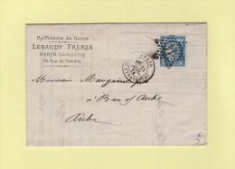 Paris - Etoile 14 - R. De Strasbourg - 24 Juil 1874 - Marcophilie (Lettres)