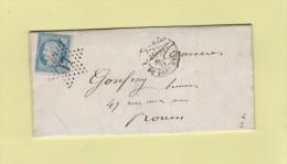 Paris - Etoile 17 - R. Du Pont-Neuf - 23 Nov 1871 - Marcophilie (Lettres)