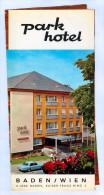 Broschüre Baden Bei Wien Park Hotel 1972 Parkhotel Kaiser-Franz-Ring Österreich Prospekt Folder Niederösterreich Austria - Reiseprospekte