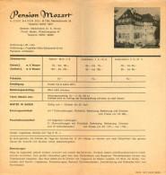 Prospekt Preisliste 2500 Baden Bei Wien Pension Mozart Marchetstraße Österreich Austria Autriche Leaflet Price List - Reiseprospekte