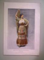 Illustration Ancienne MLLE CHASLES, Ballet De Carmen, Théatre National De L'opéra Comique - Vieux Papiers