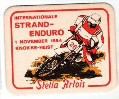 Belgique Stella Artois Thème Sport Moto - Sous-bocks