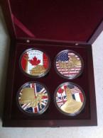 Coffret De Medailles, Commémoratif Du DDAY, 64ème Anniv Du Débarquement - France