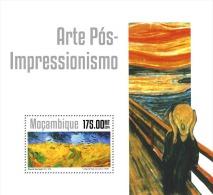 m14310b Mozambique 2014 Painting Post-impressionism art s/s Vincent van Gogh Gauguin