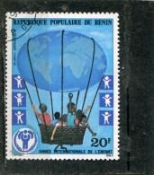 BENIN. 1979. SCOTT 421. INTL. YEAR OF THE CHILD: GLOVE AS BALLOON CARRYING CHILDREN - Bénin – Dahomey (1960-...)