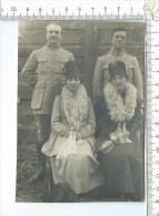 2 MILITAIRES Du 155° Régiment D´Infanterie,(  Guerre 1914-1918 ) En Famille - Guerre, Militaire