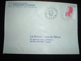 LETTRE TP LIBERTE 2,10F BORD DE CARNET OBL. 13-8-1985 ARFONS TARN (81) - Bolli Manuali