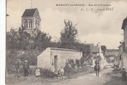 02   Marigny En Orxois  Rue De La Fontaine  Tres Belle Animation , Carte Assez Rare - France