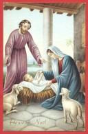 CARTOLINA NV ITALIA - HEUREUX NOEL - BUON NATALE - Natività - Sacra Famiglia - Pecorella - 9 X 14 - Altri