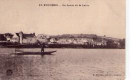 Le Thoureil .. Animée Bateau Péniche Batellerie Gabare Gabarot Mariniers Maine Et Loire Rivière Fleuve - France