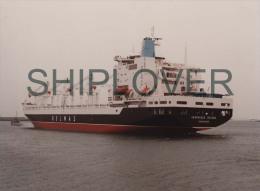 cargo fran�ais VERONIQUE DELMAS - tr�s grande photo originale - bateau/ship/schiff