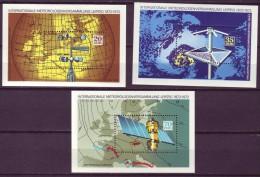 DDR - Block Nr. 34 + 35 + 36 - 100 Jahre Meteorologen-Versammlungen Postfrisch - [6] República Democrática