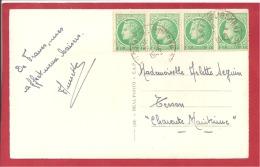 Y&T N°680X4  LIBOURNE  Vers  TESSON Le  1948 2SCANS - Francia