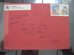 US Cover Sent To Vietnam But Missent To PHILIPPINES 1997 - Postal History