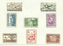 Belgique Poste Aérienne N°28 à 35 - Aéreo