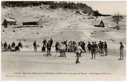 Sports D'Hiver à Peira-Cava (environs De Nice) Altitude 1500 M. ( édition Giletta )(patinage, Luge) - Autres Communes