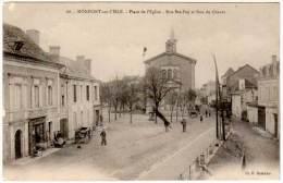 Monpont Sur L'Isle - Place De L'église - Rue Ste-Foy Et Rue Du Chavat ( Cl. H. Barradis ) - Autres Communes