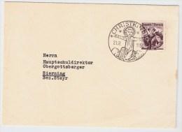 Österreich, Christkindl, 20.12.53, Portogerecht , S590 - 1945-60 Briefe U. Dokumente