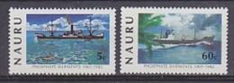 Nauru 1982 Phosphate Shipments 2v ** Mnh (18205) - Nauru
