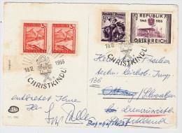 Österreich, Christkindl, 19.12.55, Postkarte Nach Dtld. , S593 - 1945-60 Briefe U. Dokumente