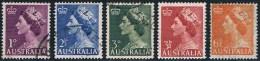Australie - Elisabeth II 196/198A Oblit. - 1952-65 Elizabeth II : Ed. Pré-décimales