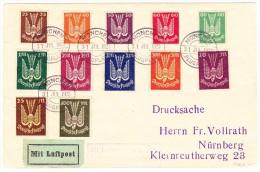 DR - Luftpost-Brief 31.07.1923 München Flugplatz Nach Nürnberg - Poste Aérienne