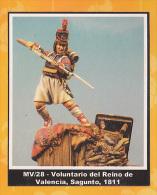 "- F.M.BENEITO - Figurines ""  Volontaire Du Royaume De Valence 1811 "" - 54 Mm- Réf MV.28 - Figurines"