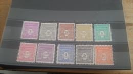 LOT 232766 TIMBRE DE FRANCE NEUF**  N�620 A 629 VALEUR 40 EUROS LUXE