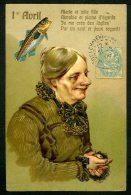 1er AVRIL - Carte Gaufrée De 1906 - Embossed - 1er Avril - Poisson D'avril
