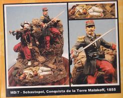 "- F.M.BENEITO - Figurines "" Sebastopol Conquête De Malakoff 1855 "" - 54 Mm- Réf MD 7 - Figurines"