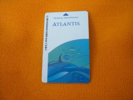 U.A.E. - Dubai The Palm Atlantis Hotel & Spa magnetic key card (fish/poisson)