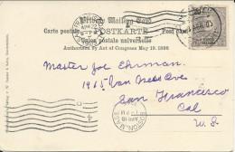 "PORTUGAL - PONTA DELGADA - 1905 - CARTE Du PAQUEBOT ""PRINZESS IRENE"" De La NORD.LLOYD Pour SAN FRANCISCO (USA)- MARITIME - Ponta Delgada"