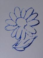 Ancien Tampon Scolaire Bois Fleur MARGUERITE  Ecole French Antique Rubber Flower - Scrapbooking