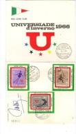 547/500 - ITALIA , Universiade D'inverno 12/2/1966 : Brochure Ufficiale 4 Facciate (2 Bianche) - 6. 1946-.. Repubblica