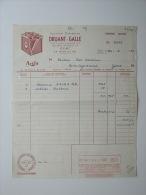 1964 Factuur Invoice Druant Galle Gent Acifit Batterie Garage - Belgique