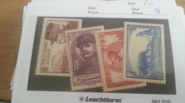 LOT 232821 TIMBRE DE FRANCE NEUF** N�454 A 457 VALEUR 52 EUROS LUXE