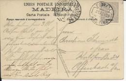 PORTUGAL - FUNCHAL MADEIRA - 1909 - CARTE POSTALE (PRESSOIR à VINS) Pour OFFENBACH (GERMANY) - 1892-1898 : D.Carlos I
