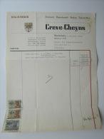 1951 Factuur Invoice Drukkerij Papierhandel Creve Cheyns Reliefdruk Wachtebeke Imprimerie - Belgique