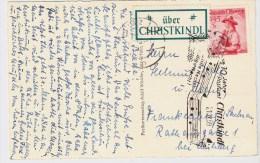 Österreich, Christkindl, 21.12.59, Ausl.-Postkarte , S580 - 1945-60 Briefe U. Dokumente