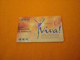 Viva Casino Sheraton - old casino member card - Sofia - Bulgaria - Europe