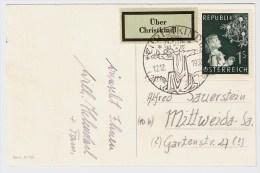Österreich, Christkindl, 12.12.53, Ausl.-Postkarte , S582 - 1945-60 Briefe U. Dokumente