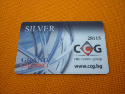 Bulgaria - Grand Casino Silver magnetic slot player�s card