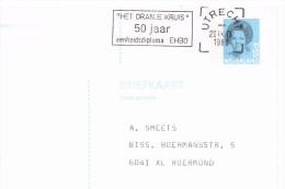 Het Oranje Kruis 50 Jaar Eenheidsdiploma EHBO Utrecht 1988, Entier, Ganzsache PP - Material Postal